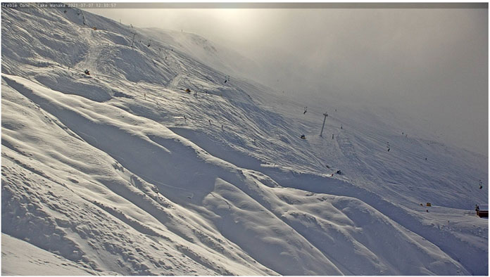 Main Basin at Treble Cone July 7 after 50cm snowfoall overnight