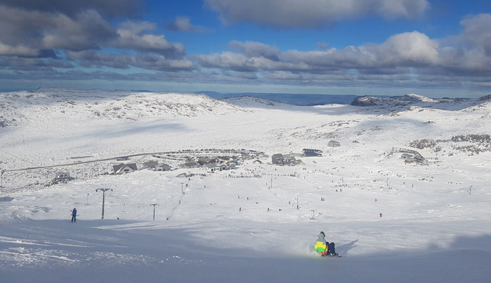 Ben Lomond ski area with good snow cover
