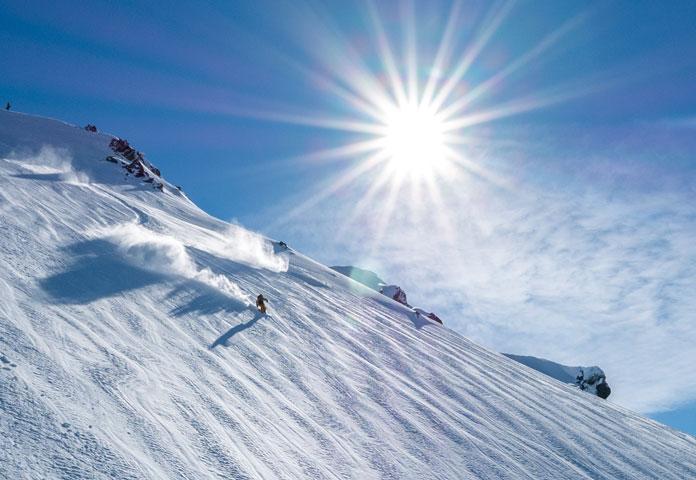 Powder skiing at Mt Dobson, Makenzie Region New Zealand