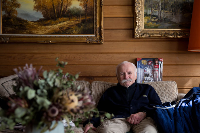 Frank Prihoda relaxing at home ahead of his 100th birthday