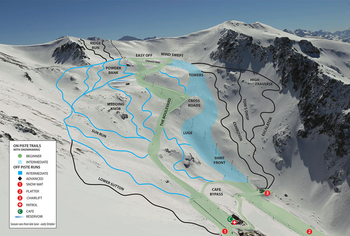 Ohau trail map