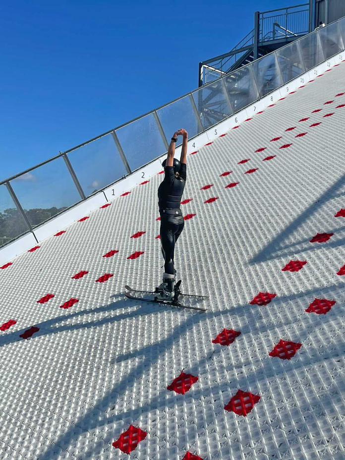 Gabi Ash on training slope