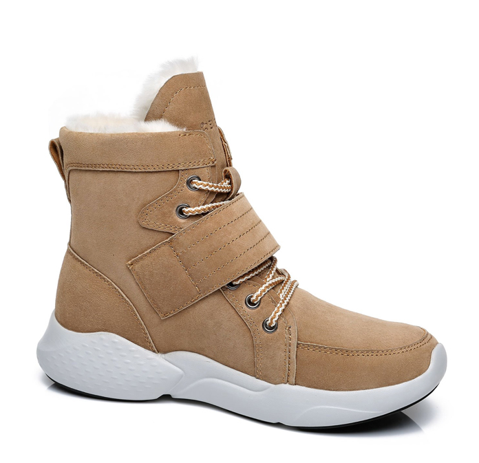 Everau City Walker fashion boots Chestnut colour