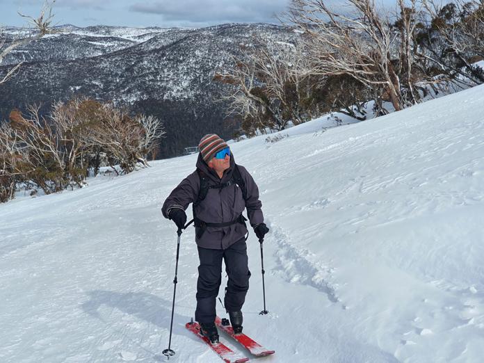 Ski touring at Thredbo in Dahu boots