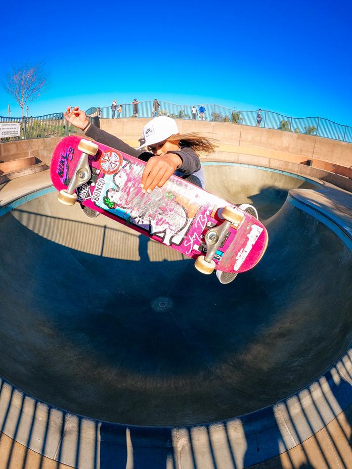 Sky Brown in the park captured on GoPro's new HERO10 Black