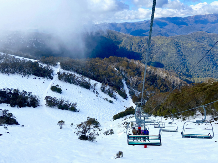 View down Hogg's Back at Buller