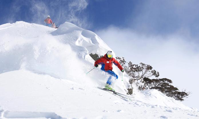 Australia's #1 ski run contender Micheals Mistake at Thredbo