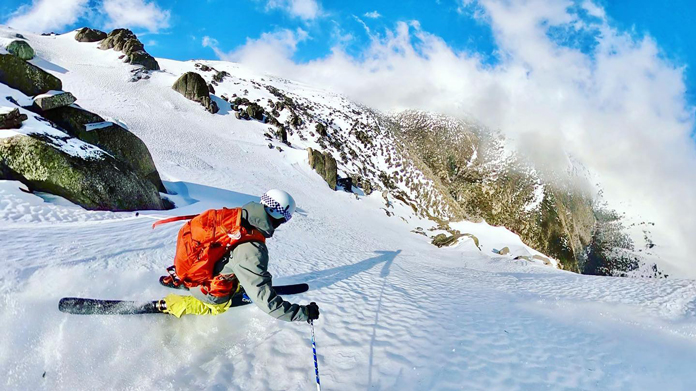 Testing Armaskin blister prevention socks in steep back country terrain at Watsons Crags