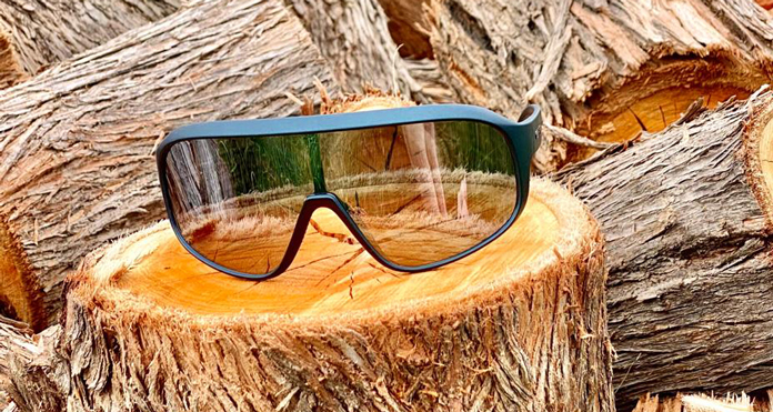 Carve Fighter Pilot Shield Sunnies close up view
