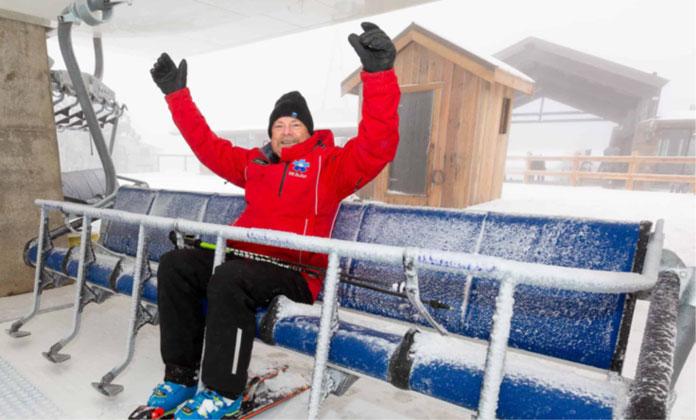 Retiring Buller ski Lifts General Manager Laurie Blampied