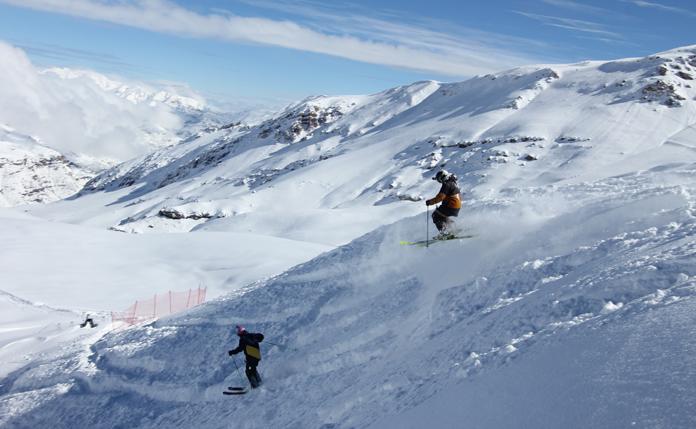 Pow day at Valle Nevado
